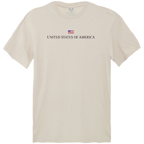 Relaxed Graphic Tee, Usa, Sand, 2x