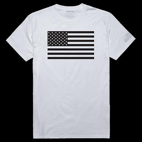 Tactical Graphic T, Tonal Flag, Wht, l