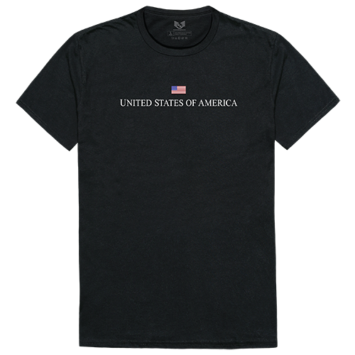 Relaxed Graphic Tee, Usa, Black, Xl
