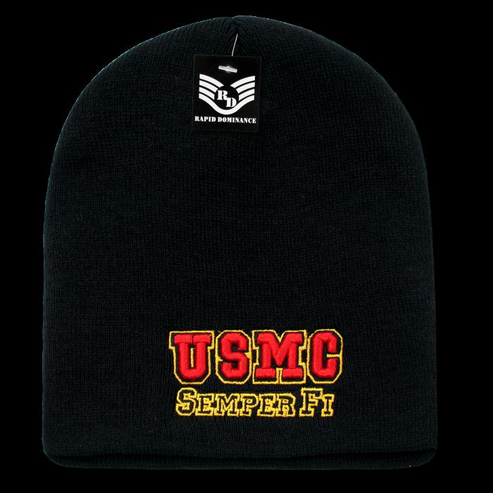 Military Work Beanie, Semper Fi, Black