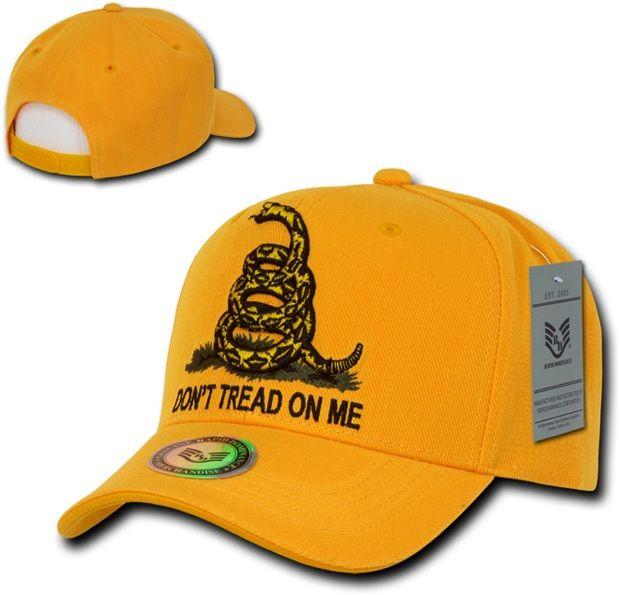 Graphic Caps, Don't Tread, Gold