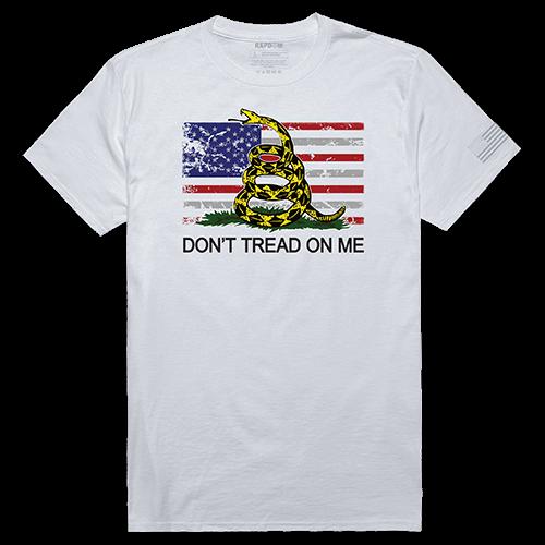 Tac. Graphic T, Flag W/Gadsden, Wht, 2x