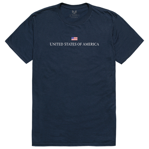 Relaxed Graphic Tee, Usa, Navy, 2x