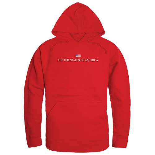 Graphic Pullover, Usa, Red, l