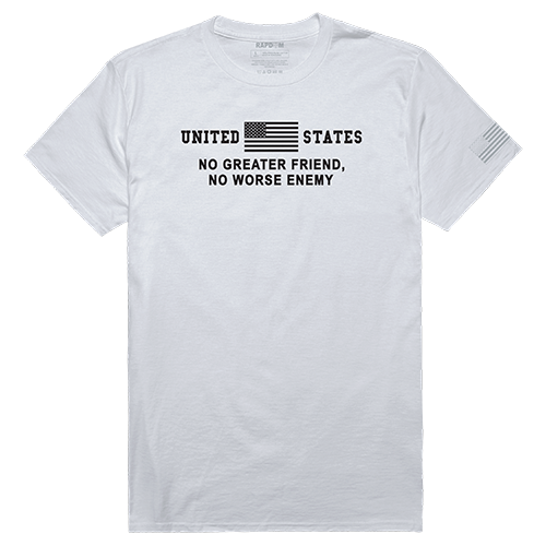 Tactical Graphic T, No Greater, Wht, 2x
