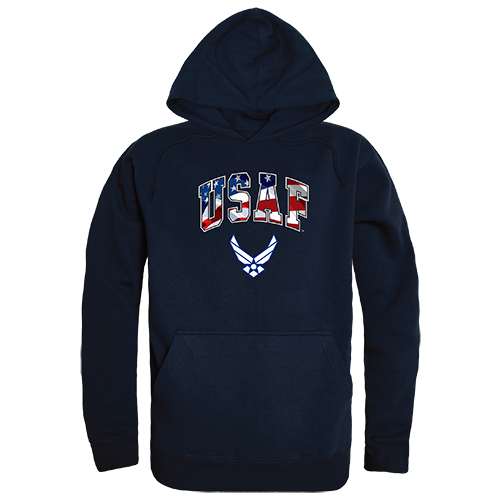 Graphic Pullover,Flag Letr, Usaf, Nvy, s