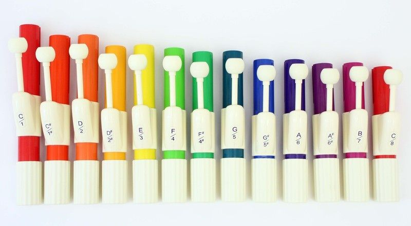 Student Handchime Set - 13 Notes In Boomwhacker Colors
