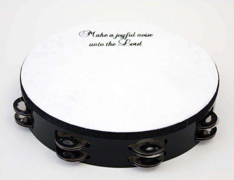 "10"" 'make A Joyful Noise' Tambourine"