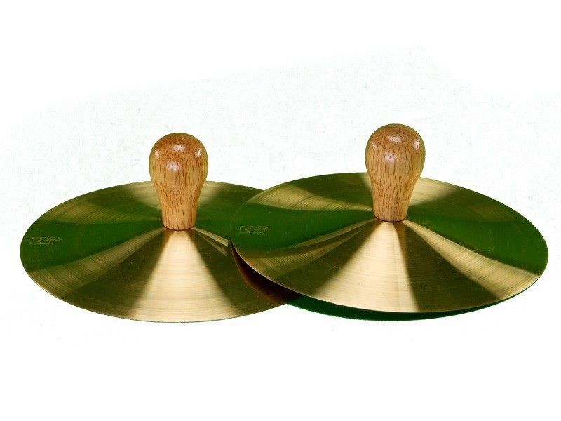 """7"""" Solid Brass Cymbals With Knobs (pr)"""