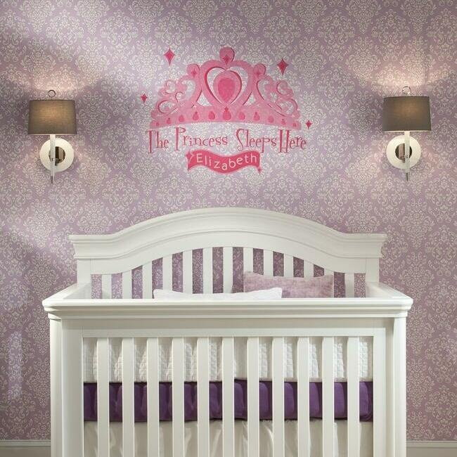 The Princess Sleeps Here Giant Wall Decal With Alphabet
