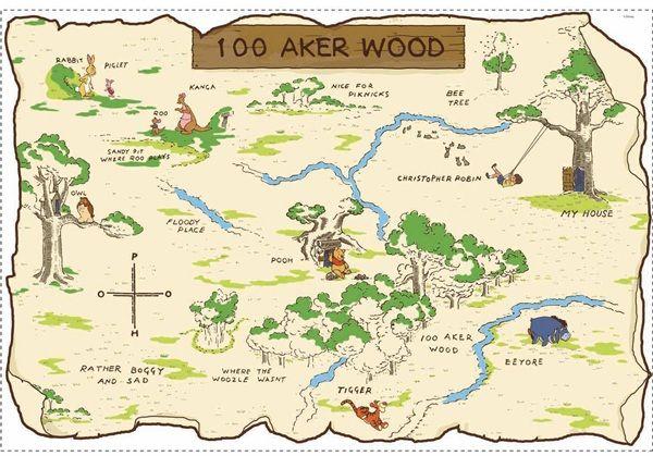 Pooh & Friends 100 Aker Wood Map