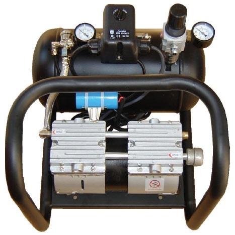 Silentaire AMP 50-8-TC Quiet Running Airbrush Compressor: Oil Free, Portable Air Compressor