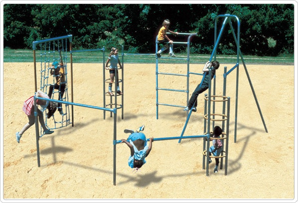 "SportsPlayCorral ""The Mini-Course"": Galvanized - Playground Fitness Equipment"