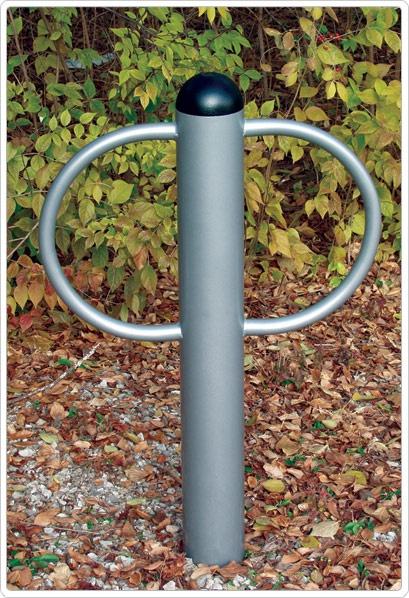 SportsPlay 2 Loop Bike Rack: Surface Mount - Playground Equipment
