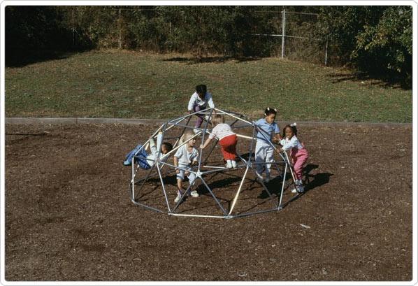 SportsPlay Portable Junior Geo Dome: Galvanized - Playground Fitness Equipment