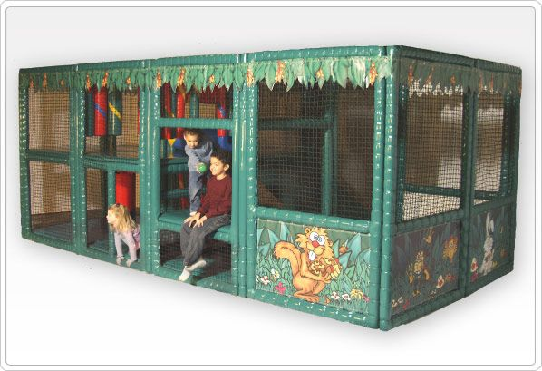 SportsPlay Tot Town Contained Play Structure - Jungle: 8.25' x 6.5' x 16.3'