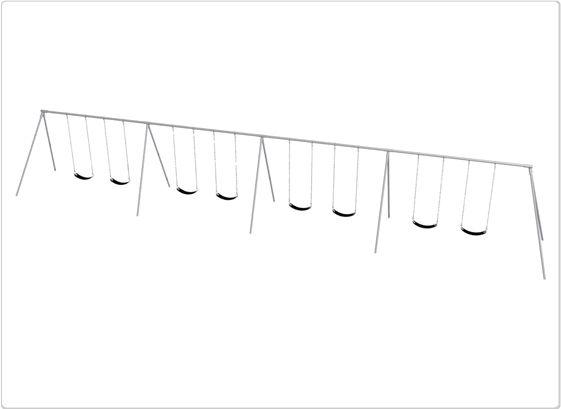 SportsPlay Primary Bipod Swing: 8 Seats - Playground Swing Set