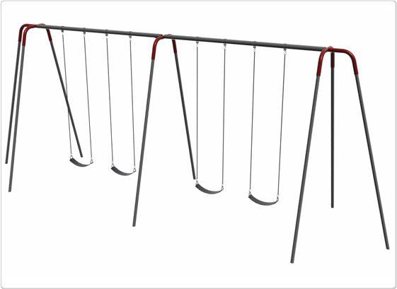 SportsPlay 12' Heavy Duty Modern Tripod Swing: 4 Seats - Playground Swing Set
