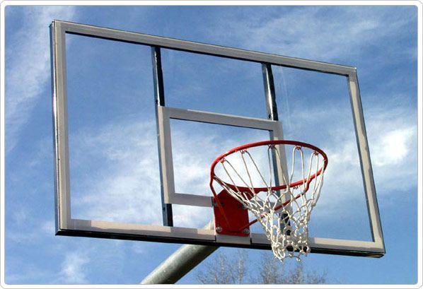 SportsPlay Heavy Duty Bent Post Backstop - Basketball Equipment