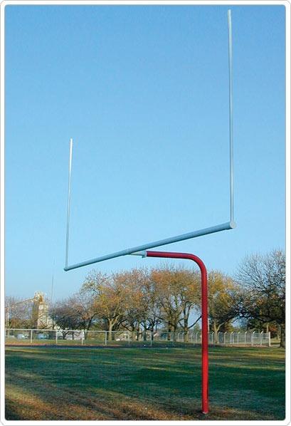 SportsPlay Single Post Pitch Fork Football Goal: 10' Uprights - Playground Football Equipment