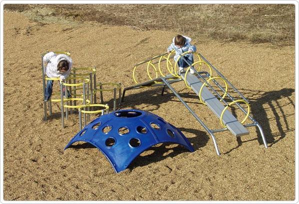 SportsPlay Permanent Ring Climber: 6' x 6' - Climbing Playground Equipment