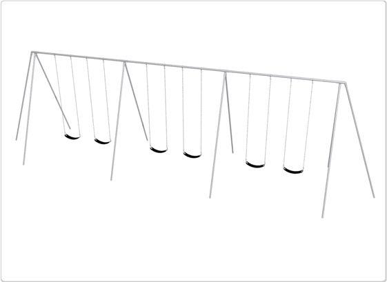 SportsPlay Primary Tripod Swing: 12', 6 Seat - Playground Swing Set