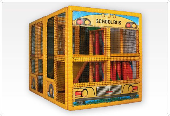 SportsPlay Tot Town School Bus - Soft Contained Play : 6' x 6.5' x 9.25'