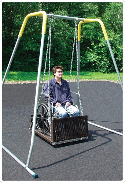 SportsPlay ADA Swing Platform: Frame, Fro Hanger, Adult, Portable