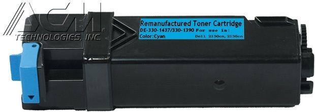 Dell OEM 3301390, 3301437 Compatible Toner Cartridge: Cyan, 2.5K Yield