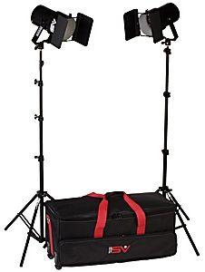 Smith-Victor K63/401463 3-Light 1800-watt Controlled Quartz Portable Kit