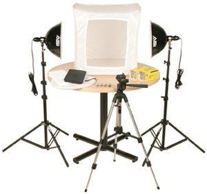 """Smith-Victor KLB-2/402058 Photoflood 1000-watt 28"""" Light Tent Kit: 2-Lights"""