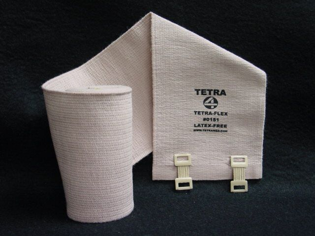 """Tetra Medical Supply Tetra-Flex Deluxe Woven Elastic Bandage: 6"""" x 5.5 yd, Pack of 12"""