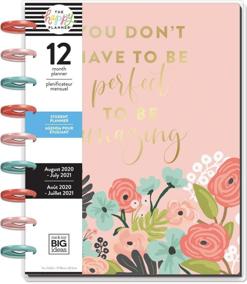 Classic Student Happy Planner® - Pastel Blooms - 12 Months