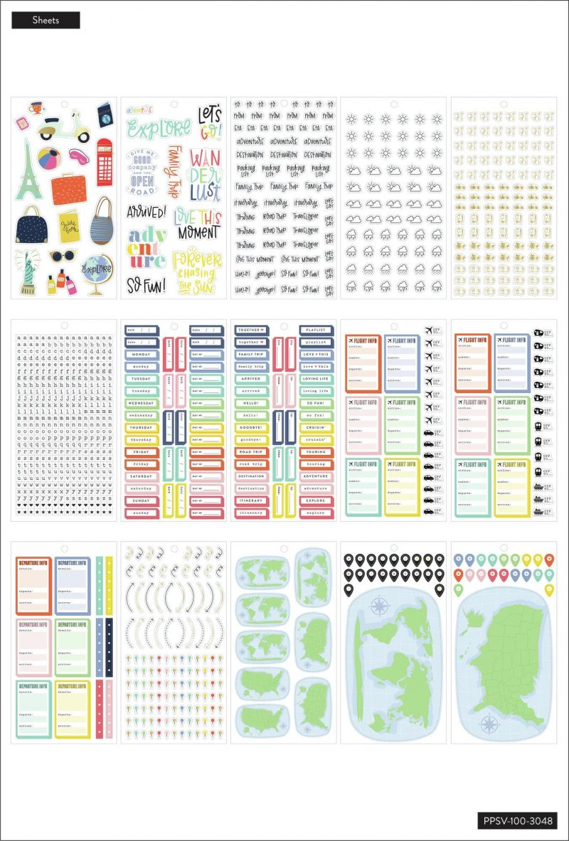 Value Pack Stickers - Travel