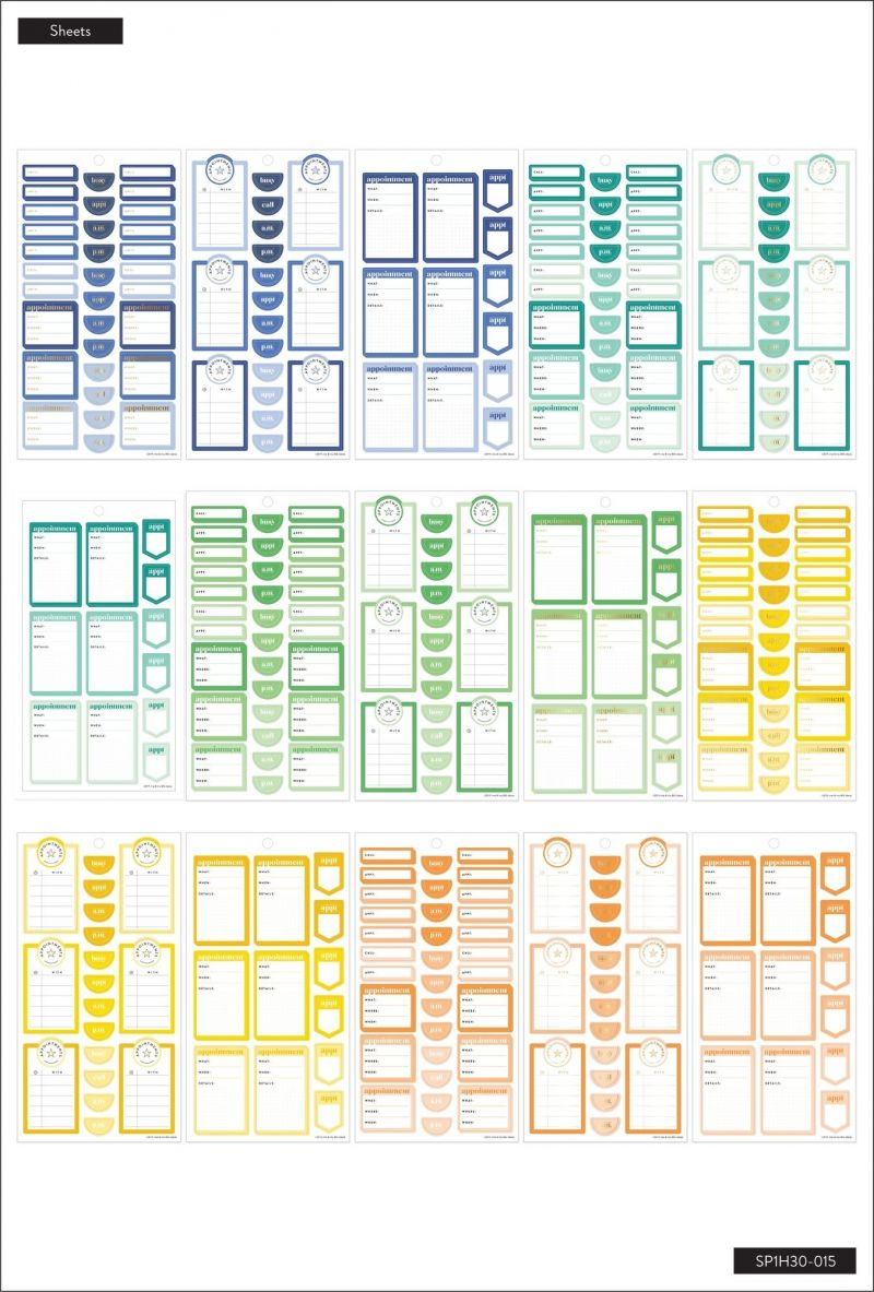 Value Pack Stickers - Appointments