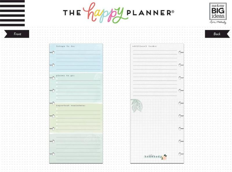 Classic Half Sheet Note Paper - To Do List - Homebody