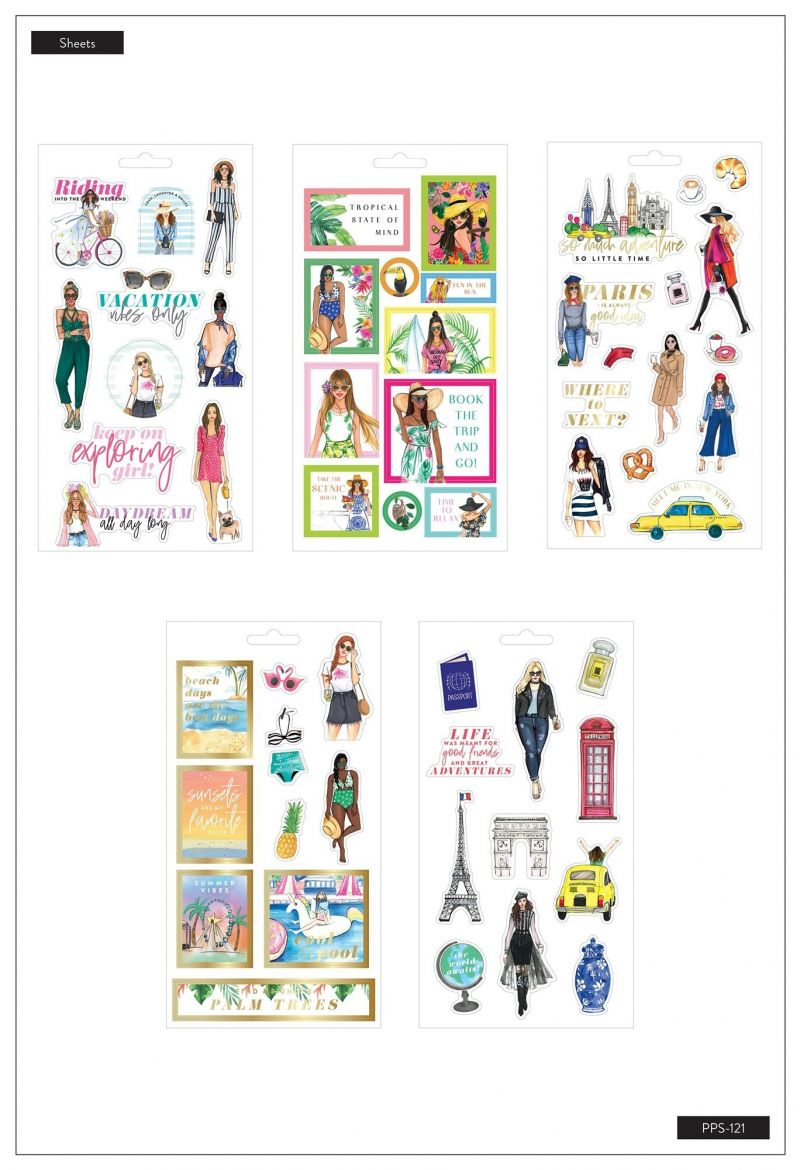 Sticker Sheets - Rongrong - Travel