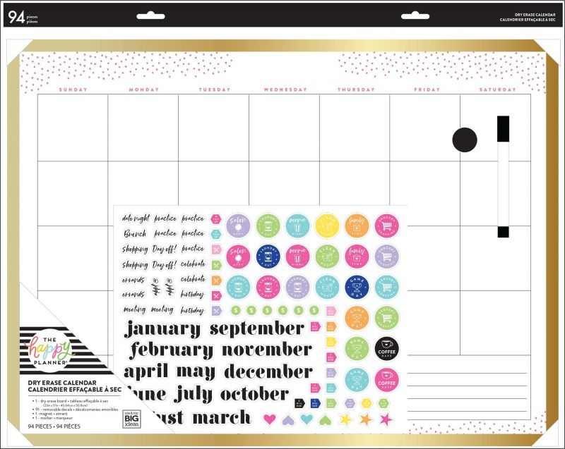 Monthly Dry Erase Board