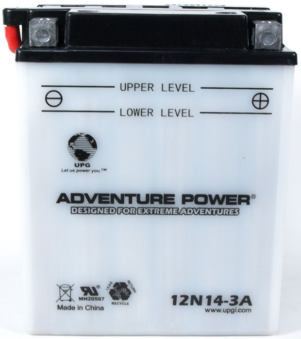 UPG Adventure Power Lead-Acid Conventional: 12N14-3A, 14 AH, 12V