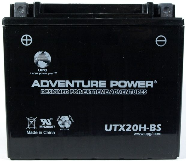 UPG Adventure Power Sealed Lead Acid Dry Charge AGM: UTX20H-BS, 18 AH, 12V