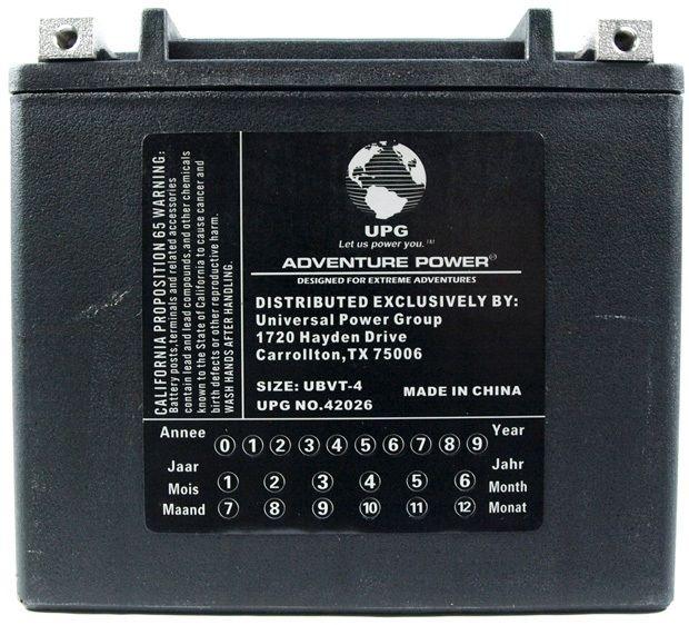 UPG Adventure Power Sealed Lead Acid: UBVT-4, 12 AH, 12V