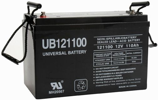 UPG Sealed Lead Acid AGM: UB121100, 110 AH, 12V, L5