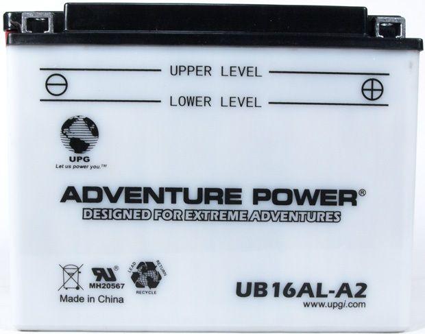 UPG Adventure Power Lead-Acid Conventional: UB16AL-A2, 16 AH, 12V