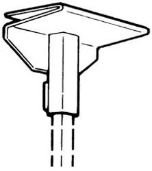Walker Ceiling Rod Sleeves White