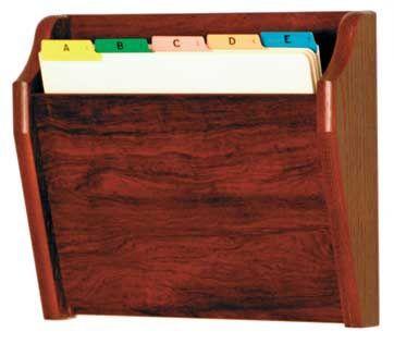 Wooden Mallet™ Tapered Bottom Letter Size Chart Holder: 1 Pocket
