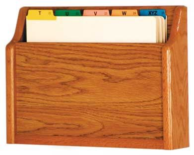 Wooden Mallet™ Single Square Bottom Letter Size File Holder