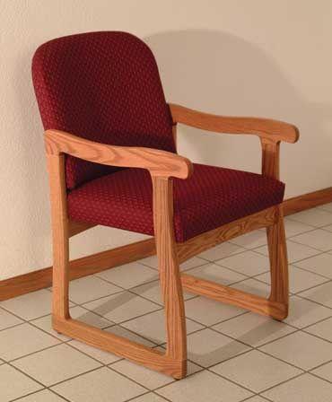 Wooden Mallet™ Prairie Guest Chair: Sled Base