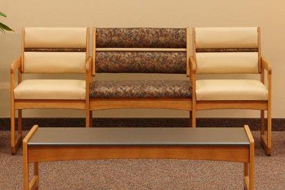 Wooden Mallet™ Dakota™ Valley Bariatric Triple Sled Base Sofa: Any Fabrics Or Vinyl