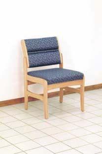 Wooden Mallet™ Dakota™ Valley Armless Guest Chair: Standard Fabric Or Vinyl, Standard Leg