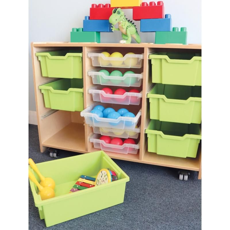 Whitney Plus Green Tray Storage Cabinet